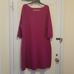 Magenta Sweater Dress